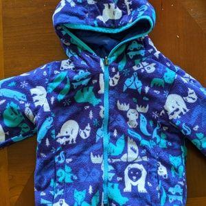 Columbia reversible fleece or puff toddler jacket